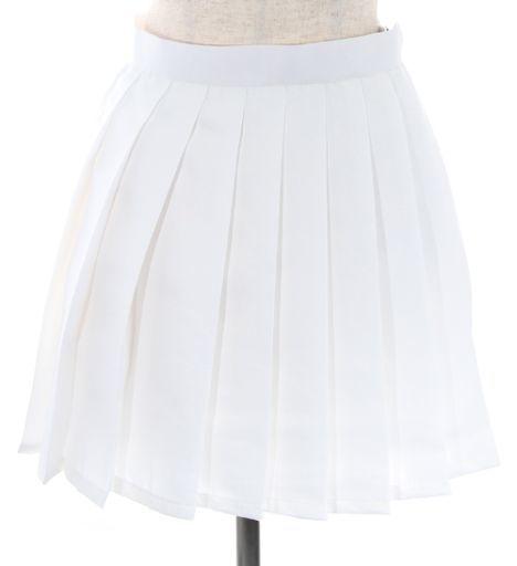 スワローテイル 新品 コスプレ衣装・グッズ(キャラクター) プリーツスカート ホワイト Mサイズ [4000-4-wh]