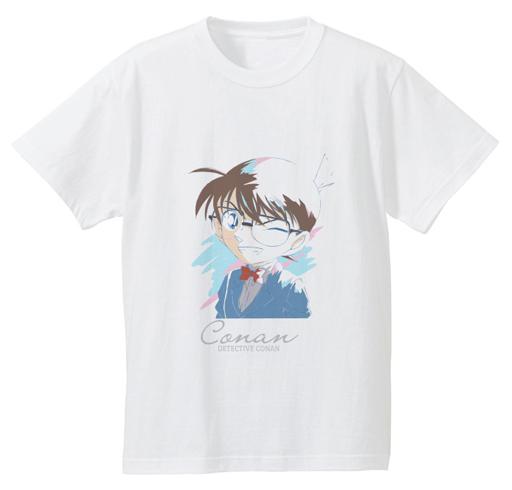 【中古】Tシャツ(キャラクター) 江戸川コナン Ani-Art Tシャツ ホワイト メンズLサイズ 「名探偵コナン」