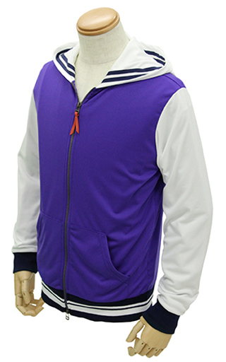【新品】アウターウェア(キャラクター) 豊ヶ崎学園制服 デザインパーカー ホワイト×パープル Lサイズ 「冴えない彼女の育てかた♭」