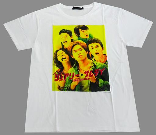 【中古】Tシャツ(男性アイドル) コラボTシャツ ホワイト サイズ4(Lサイズ) 「映画 『シュアリー・サムデイ』×メンズメルローズ」