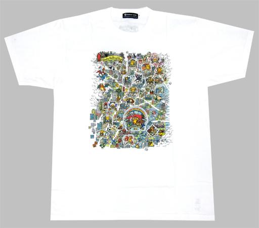 【中古】Tシャツ(キャラクター) Pikachu Walking Map Tシャツ ホワイト Lサイズ 「ポケットモンスター」 ポケモンセンタートウキョーDX限定