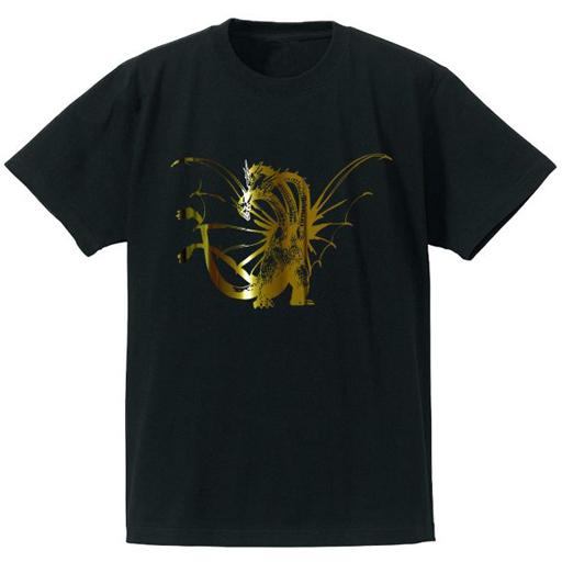 【予約】Tシャツ(キャラクター) キングギドラ 箔プリントTシャツ ブラック レディースLサイズ 「ゴジラ」
