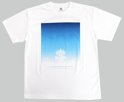"""Event Logo Official Full Color T-shirt White XL Size """"THE IDOLM @ STER CINDERELLA GIRLS 6thLIVE MERRY-GO-ROUNDOME !!!"""""""