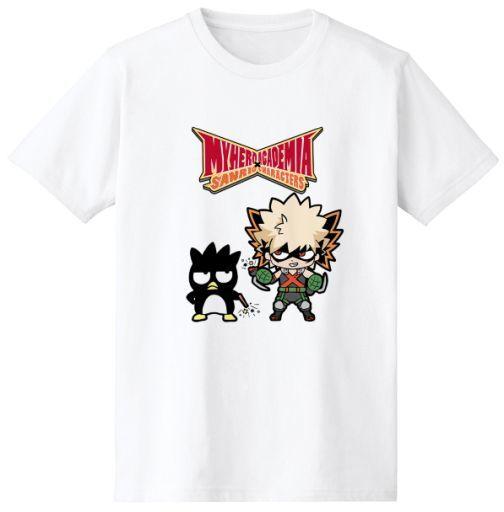 爆豪勝己&バッドばつ丸 Tシャツ ホワイト メンズLサイズ 「僕のヒーローアカデミア×サンリオキャラクターズ」
