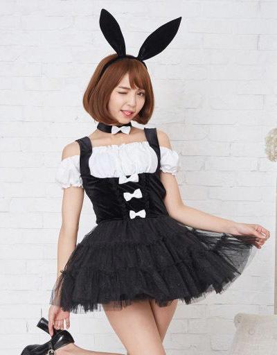 BODYLINE 新品 コスプレ衣装・グッズ(キャラクター) スマイルバニー コスプレ ブラック 2Lサイズ
