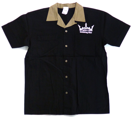 フィーナ・ファム・アーシュライト 刺繍ボーリングシャツ ブラック Lサイズ 「夜明け前より瑠璃色な -Moonlight Cradle-」 イベント・GEE!限定