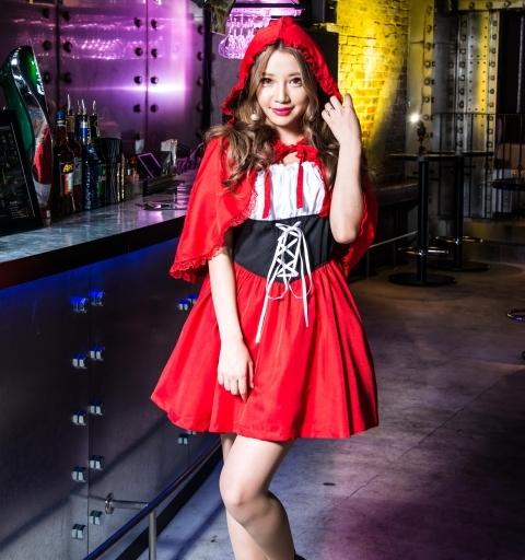 BODYLINE 新品 コスプレ衣装・グッズ(キャラクター) costume848 赤ずきんちゃんケープドレス コスプレ レッド 2Lサイズ
