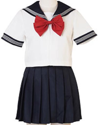 BODYLINE 新品 コスプレ衣装・グッズ(キャラクター) costume410 ポップカラーセーラー服 コスプレ ホワイト×ネイビー×レッド 2Lサイズ