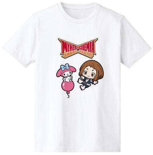 麗日お茶子&マイメロディ Tシャツ ホワイト レディースLサイズ 「僕のヒーローアカデミア×サンリオキャラクターズ」