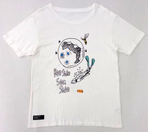 UNISON SQUARE GARDEN 手書きのビーサイドTシャツ ホワイト Mサイズ 「Bee side Sea side LIVE TOUR」