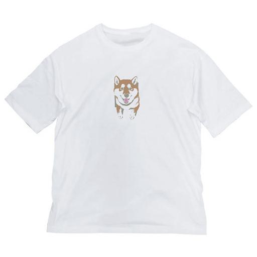 コスパ 新品 衣類 壁とハルさん 石原雄先生デザイン ビッグシルエットTシャツ ホワイト Lサイズ 「世界の終わりに柴犬と」