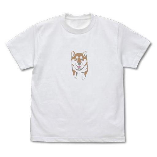 コスパ 新品 衣類 壁とハルさん 石原雄先生デザイン Tシャツ ホワイト Lサイズ 「世界の終わりに柴犬と」