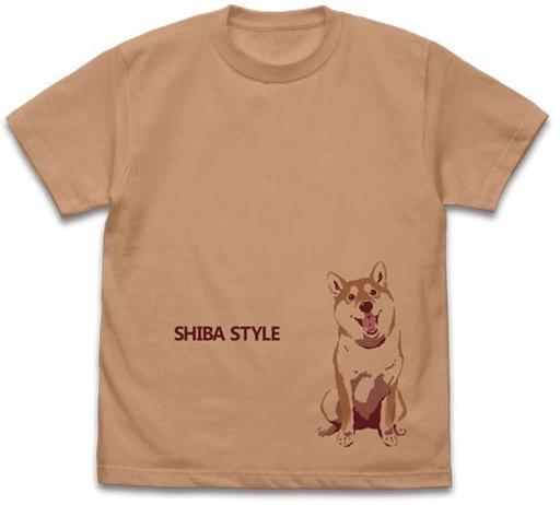 コスパ 新品 衣類 おすわりハルさん Tシャツ コーラルベージュ Lサイズ 「世界の終わりに柴犬と」