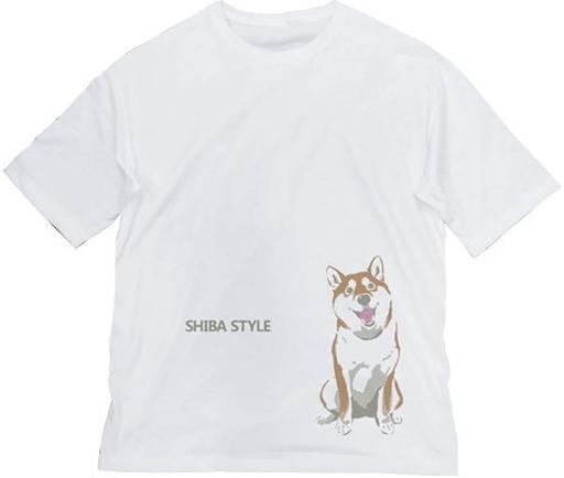コスパ 新品 衣類 おすわりハルさん ビッグシルエットTシャツ ホワイト Lサイズ 「世界の終わりに柴犬と」