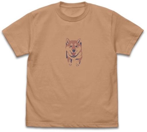 コスパ 新品 衣類 壁とハルさん Tシャツ コーラルベージュ Lサイズ 「世界の終わりに柴犬と」
