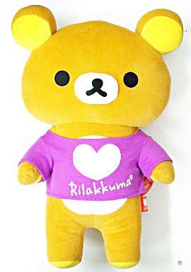 【中古】ぬいぐるみ リラックマ(紫) カラフルリラックマぬいぐるみXL 「リラックマ」