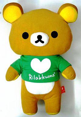 【中古】ぬいぐるみ リラックマ(緑) カラフルリラックマぬいぐるみXL 「リラックマ」