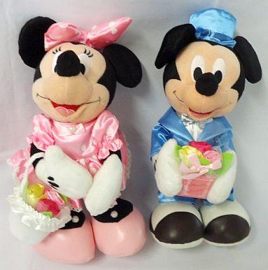 【中古】ぬいぐるみ ミッキー&ミニー NTTぬいぐるみ電報 「ディズニー」