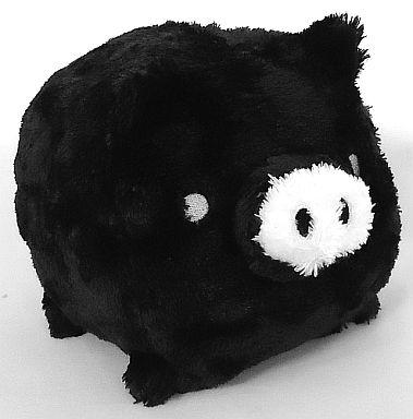 【中古】ぬいぐるみ モノクロブー(黒) くったりぬいぐるみ 「モノクロブー」