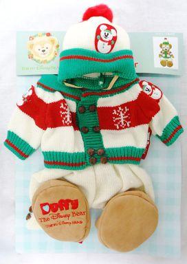 【中古】ぬいぐるみ ダッフィー(カーディガン) クリスマスコスチューム2008(ぬいぐるみ用衣装) 「ディズニーベア」