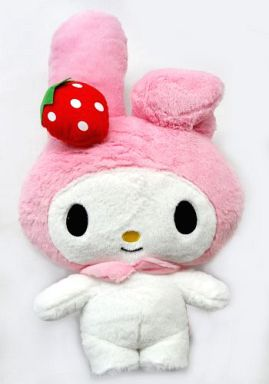 【中古】ぬいぐるみ メロディ(ピンク) いちごBIG×BIGぬいぐるみ 「マイメロディ」