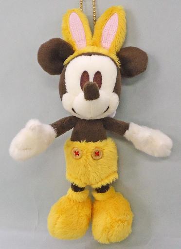 【中古】ぬいぐるみ ミッキーマウス(イエローバニー/レトロデザイン) ぬいぐるみバッジ 「ディズニー・イースター2014」 東京ディズニーランド限定
