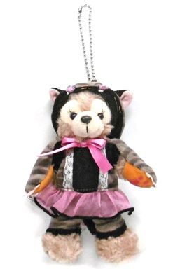 【中古】ぬいぐるみ シェリーメイ(ダッフィーのハロウィーン/黒猫) ぬいぐるみバッジ 「ディズニー・ハロウィーン2014」 東京ディズニーシー限定