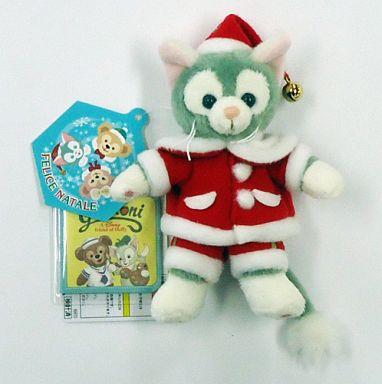 【中古】ぬいぐるみ ジェラトーニ(ダッフィーのクリスマス) ぬいぐるみバッジ 「クリスマス・ウィッシュ2014」 東京ディズニーシー限定