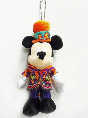 【中古】ぬいぐるみ ミッキーマウス(ウェルカム・トゥ・スプーキーヴィル) ぬいぐるみバッジ 「ディズニー・ハロウィーン2012」 東京ディズニーランド限定
