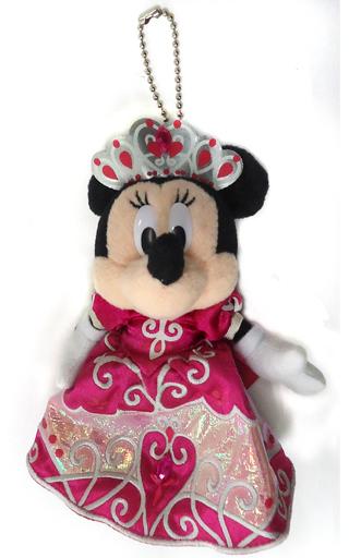 【中古】ぬいぐるみ ミニーマウス ぬいぐるみバッジ 「ディズニー・プリンセス・デイズ ?ミニーの夢見るティアラ?」 東京ディズニーランド限定