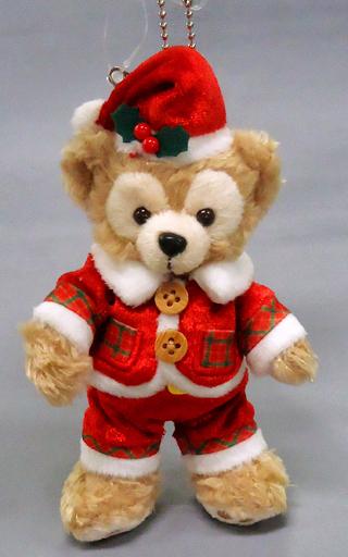 【中古】ぬいぐるみ ダッフィー(サンタ) ぬいぐるみバッジ 「ダッフィーのクリスマス2016」 東京ディズニーシー限定