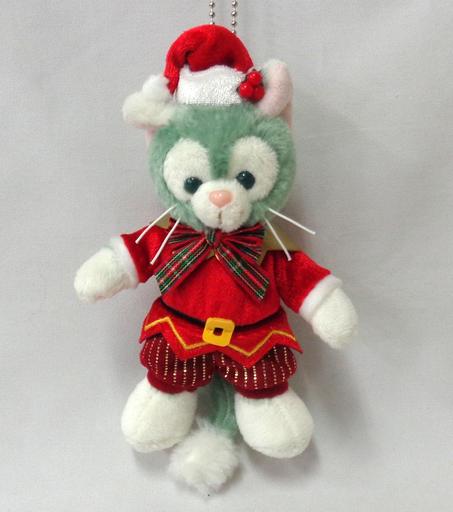 【中古】ぬいぐるみ ジェラトーニ(サンタ) ぬいぐるみバッジ 「ダッフィーのクリスマス2016」 東京ディズニーシー限定
