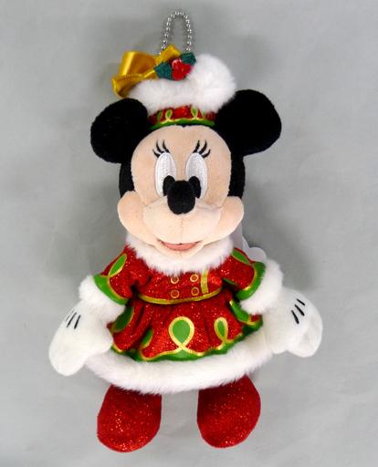 【中古】ぬいぐるみ ミニーマウス(クリスマスバージョン) ぬいぐるみバッジ 「東京ディズニーランド・エレクトリカルパレード・ドリームライツ」 東京ディズニーランド限定