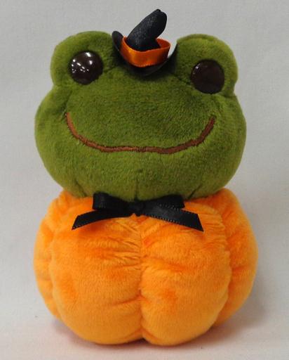 【中古】ぬいぐるみ ピクルス(カボチャ) ハロウィンだるま(ぬいぐるみ) 「pickles the frog-かえるのピクルス-」