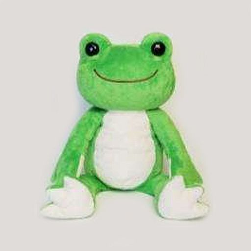 【中古】ぬいぐるみ ピクルス(わかば) にじいろシリーズ ぬいぐるみ(M) 「pickles the frog-かえるのピクルス-」