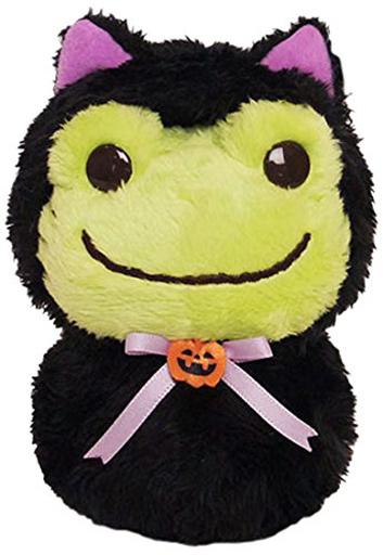【新品】ぬいぐるみ ピクルス(黒猫だるま) ハロウィンぬいぐるみ  「pickles the frog-かえるのピクルス-」
