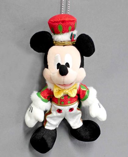 【中古】ぬいぐるみ ミッキーマウス(クリスマスバージョン) ぬいぐるみバッジ 「東京ディズニーランド・エレクトリカルパレード・ドリームライツ」 東京ディズニーランド限定