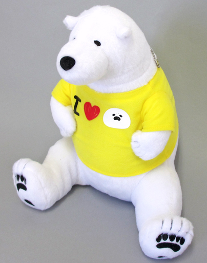 【中古】ぬいぐるみ シロクマさん(黄色Tシャツ) シロクマさんTシャツぬいぐるみBIG 「恋するシロクマ」