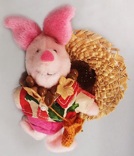 【中古】ぬいぐるみ ピグレット(アロハシャツ/ソンブレロ) ぬいぐるみバッジ 「くまのプーさん」 東京ディズニーランド限定