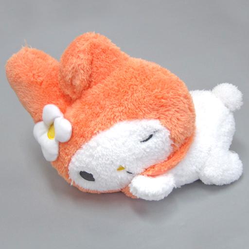 【中古】ぬいぐるみ メロディ 寝そべりおねむ-ふんわりオレンジ-BIGぬいぐるみ 「マイメロディ」
