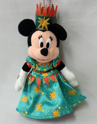 【中古】ぬいぐるみ [破損品] ミニーマウス(グリーン/太陽) ぬいぐるみバッジ 「ミニー・オー!ミニー」 東京ディズニーランド限定
