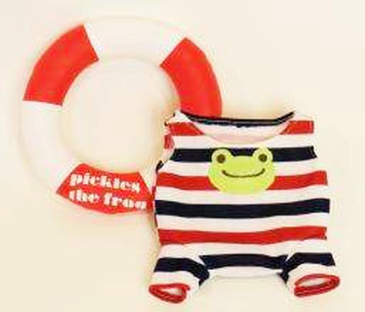 【予約】ぬいぐるみ ピクルス 水着&浮き輪 ビーンドール用コスチューム 「pickles the frog-かえるのピクルス-」