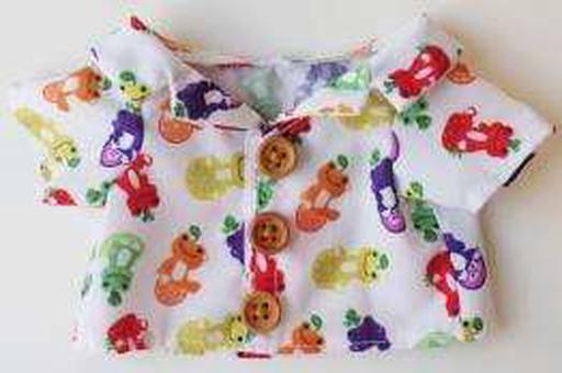 【予約】ぬいぐるみ ピクルス アロハシャツ(フルーツ) ビーンドール用コスチューム 「pickles the frog-かえるのピクルス-」