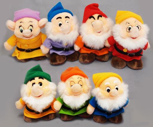【中古】ぬいぐるみ [破損品] 7人の小人(7体セット) プリムール(ぬいぐるみ) 「白雪姫」