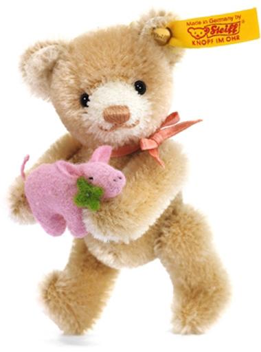 Steiff(シュタイフ) 新品 ぬいぐるみ Mini Teddy bear lucky charm-ミニテディベア ラッキーチャーム- 9cm
