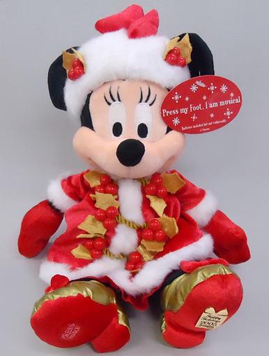 【中古】ぬいぐるみ ミニーマウス(クリスマス/2005) ビーンバッグ(ぬいぐるみ) 「ディズニー」 ディズニーランド・リゾート限定