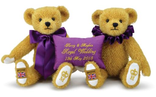 【予約】ぬいぐるみ Harry and Meghan: Merrythought's 2018 Royal Wedding Teddy Bears-ハリー アンド メーガン:メリーソート 2018 ロイヤルウエディング テディベア-