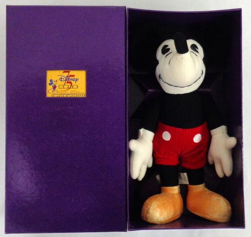 【中古】ぬいぐるみ [箱付き・美品] ミッキーマウス プラッシュドール(ぬいぐるみ) 「ディズニー」 ディズニースタジオ設立75周年記念限定