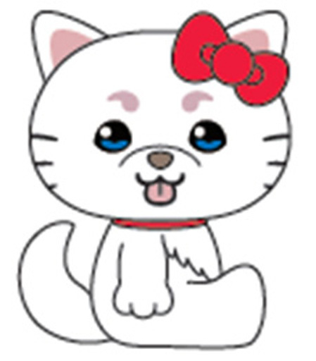 Kthings 新品 ぬいぐるみ 定春(SADA AND ELLY×ハローキティ) むにゅぐるみ(S) 「銀魂×サンリオキャラクターズ」