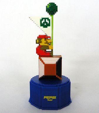 【中古】ペットボトルキャップ 3.MARIO FLAG 「スーパーマリオブラザーズ」 ペプシ ドットボトルキャップ